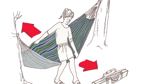 How to Get Into a Hammock Illustration