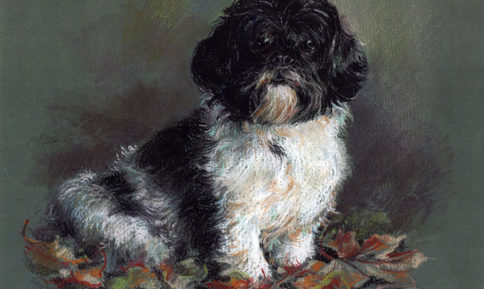 Minnie the Dog Painting